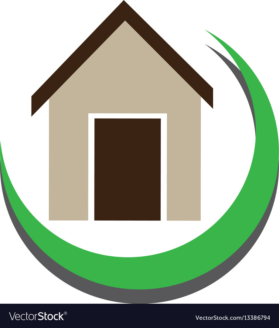 Half arch with simple house icon design