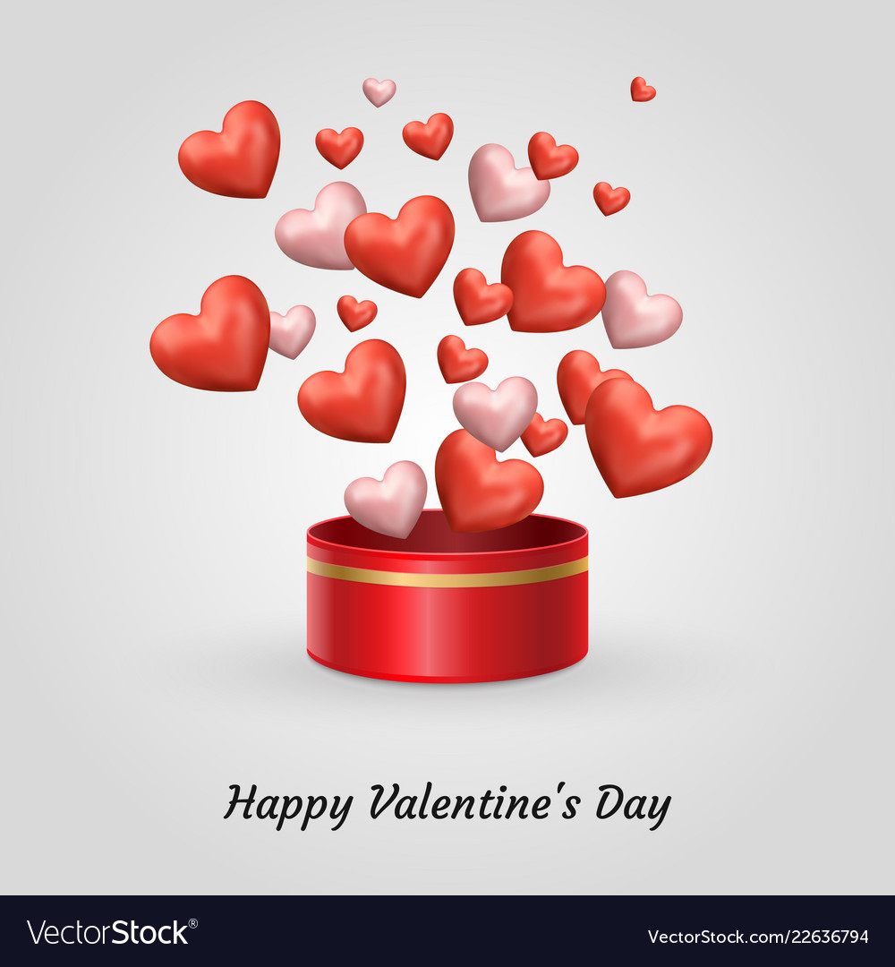 Poster Happy Valentines Day Royalty Free Vector Image
