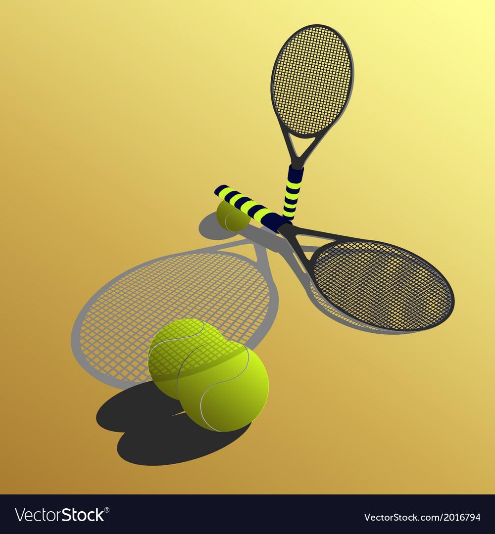 Racket on a yellow backgroun