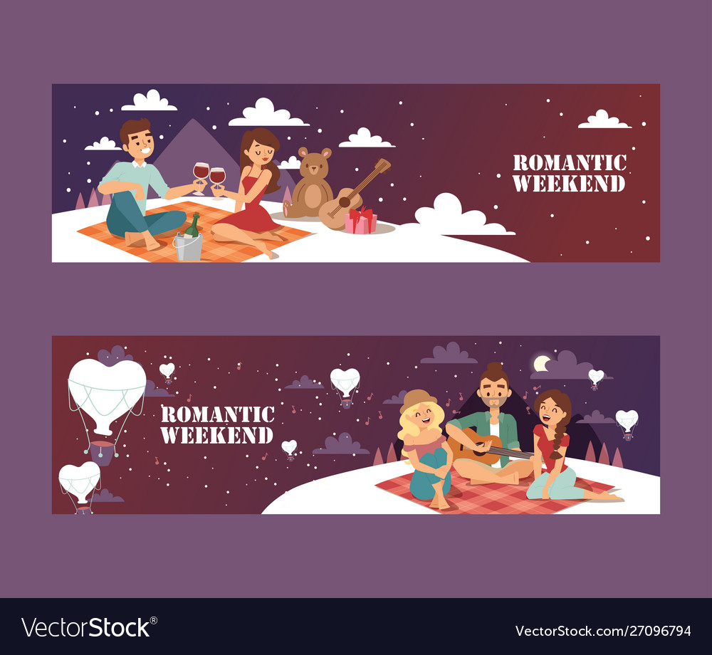 Romantic weekend picnic