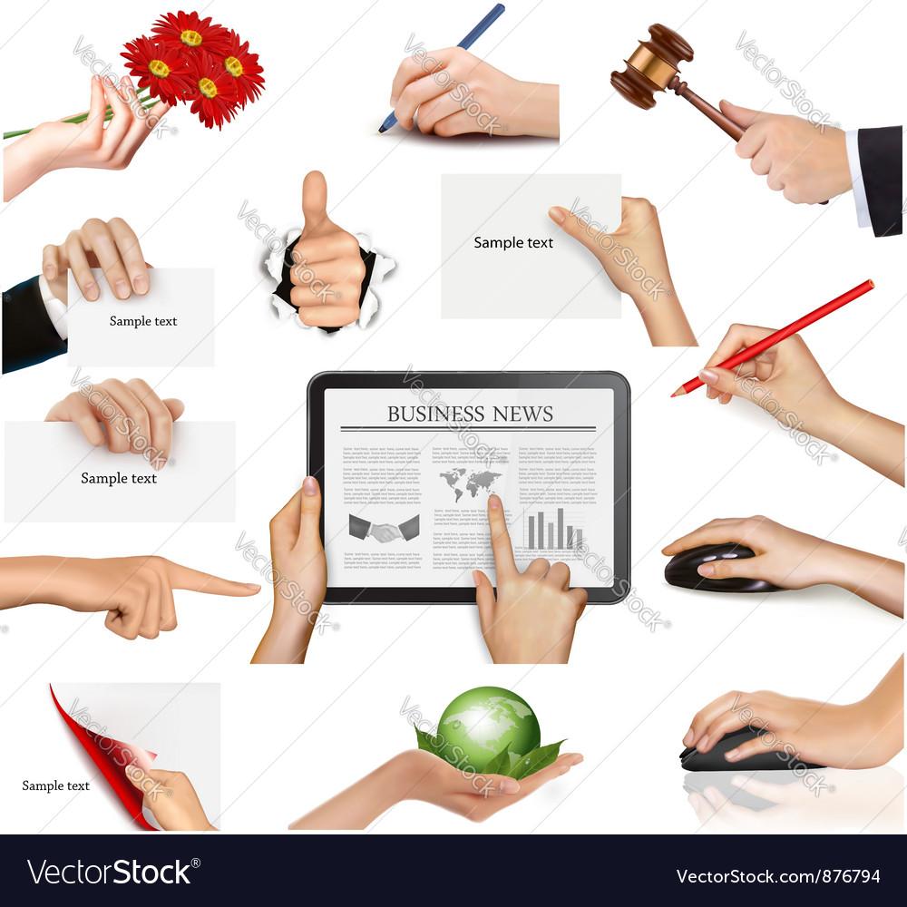 Set of hands holding