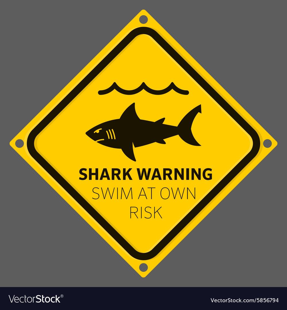 Shark area warning