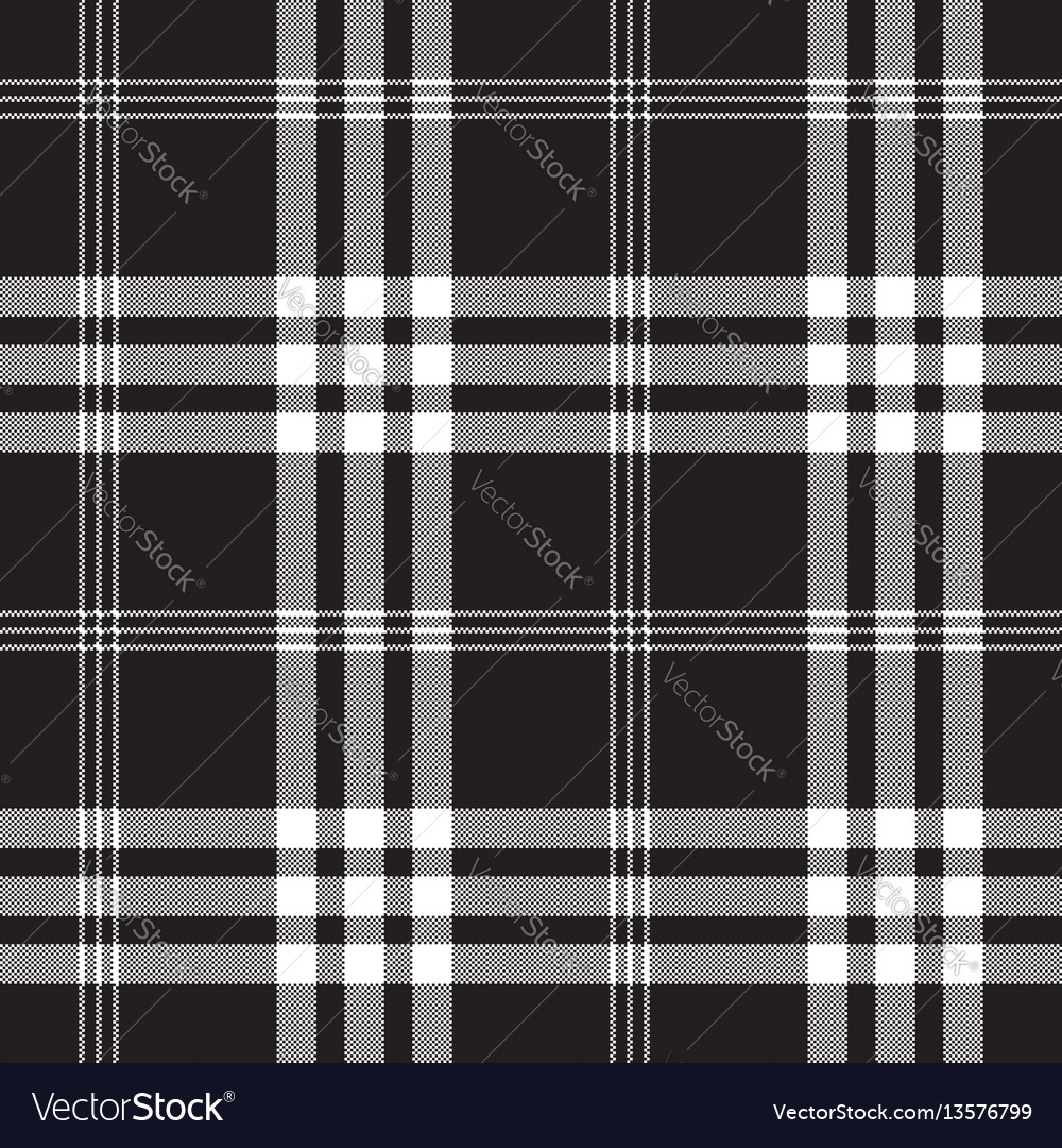 Black and white check pixel square fabric texture