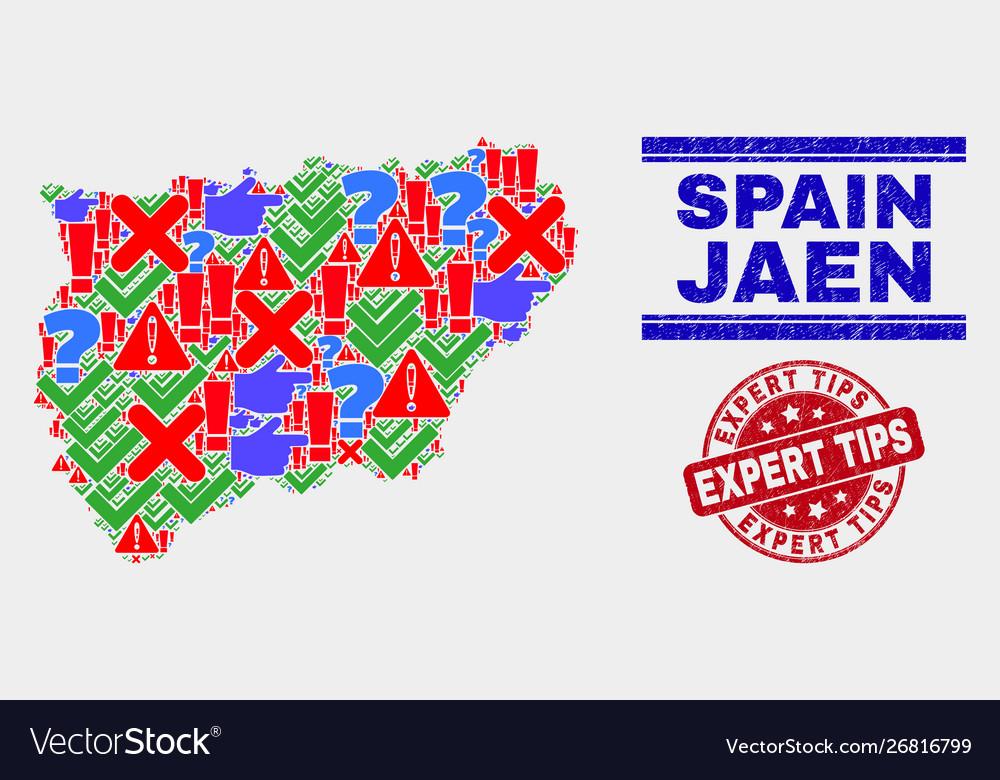 Map Of Spain Jaen.Composition Jaen Spanish Province Map Symbol