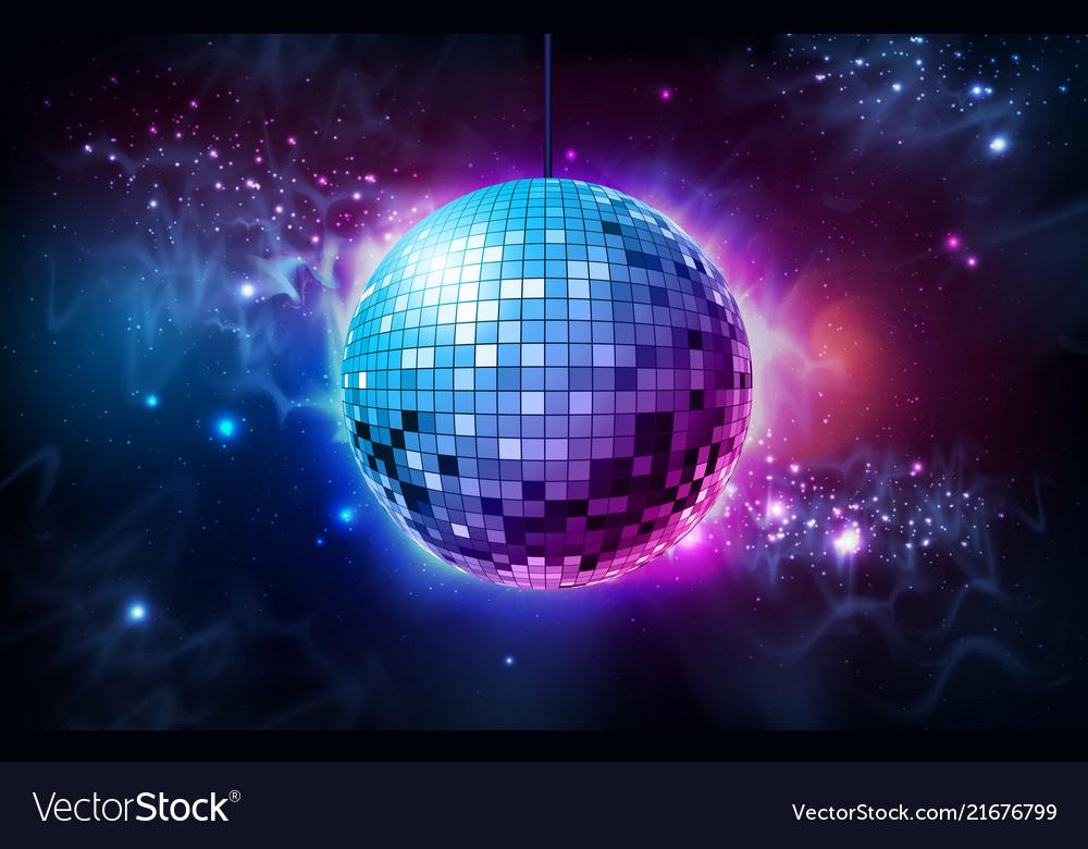 Disco ball disco ball on open space background