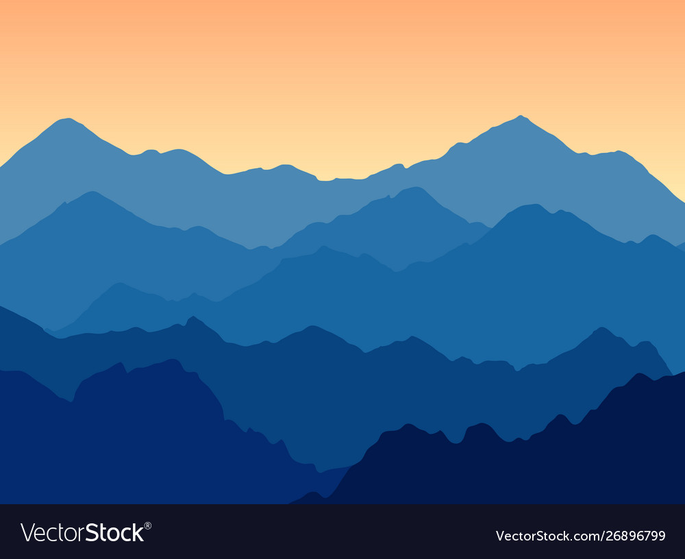 Mountains landscape at dusk