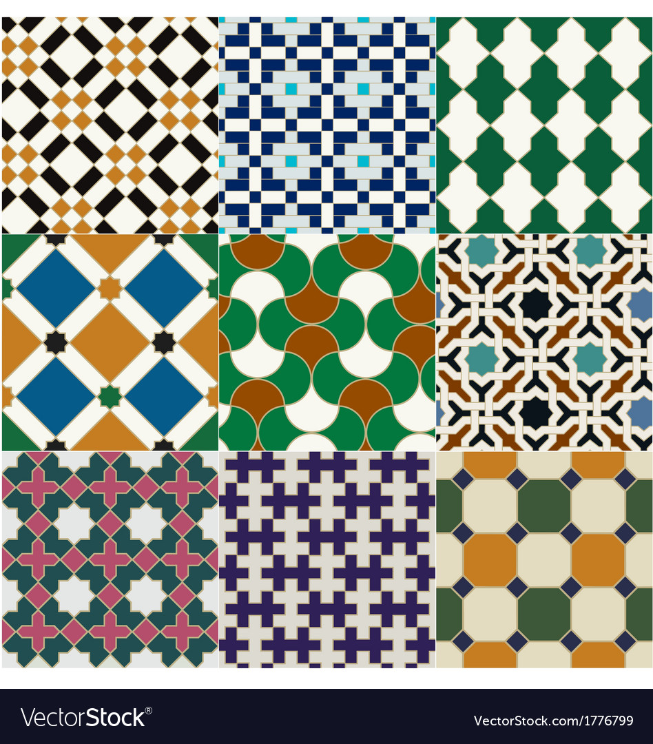 Seamless moroccan islamic tile pattern Royalty Free Vector