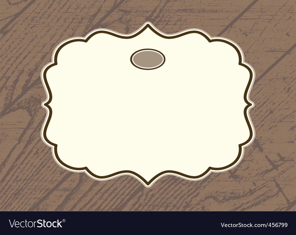 Wood background frame vector image