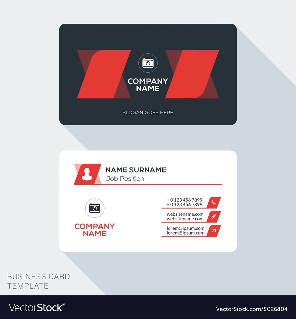 Creative and clean business card template flat vector image colourmoves