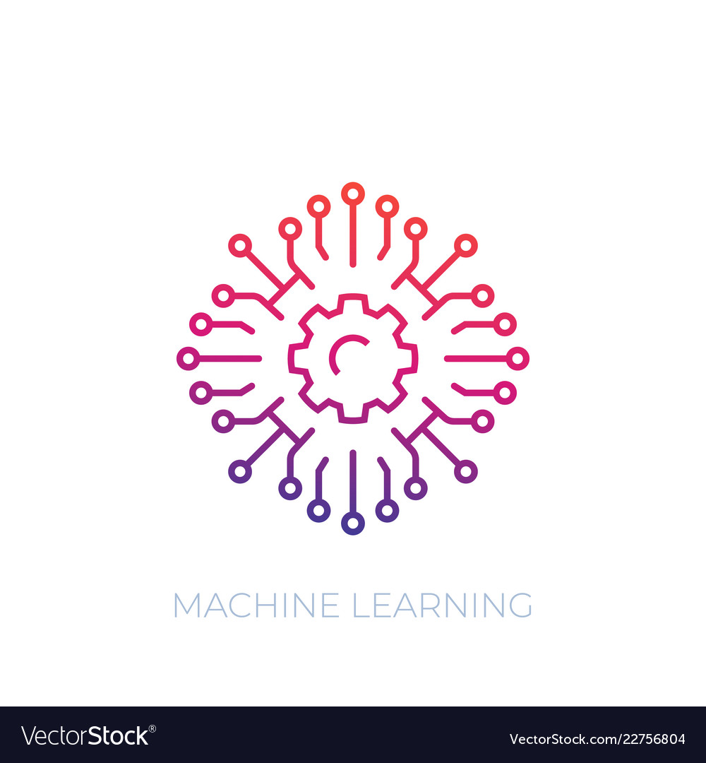 Machine learning icon linear