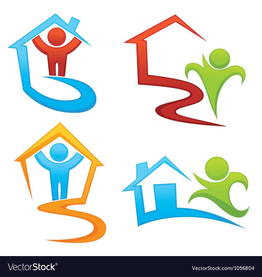 Property development and real estate symbols vector image