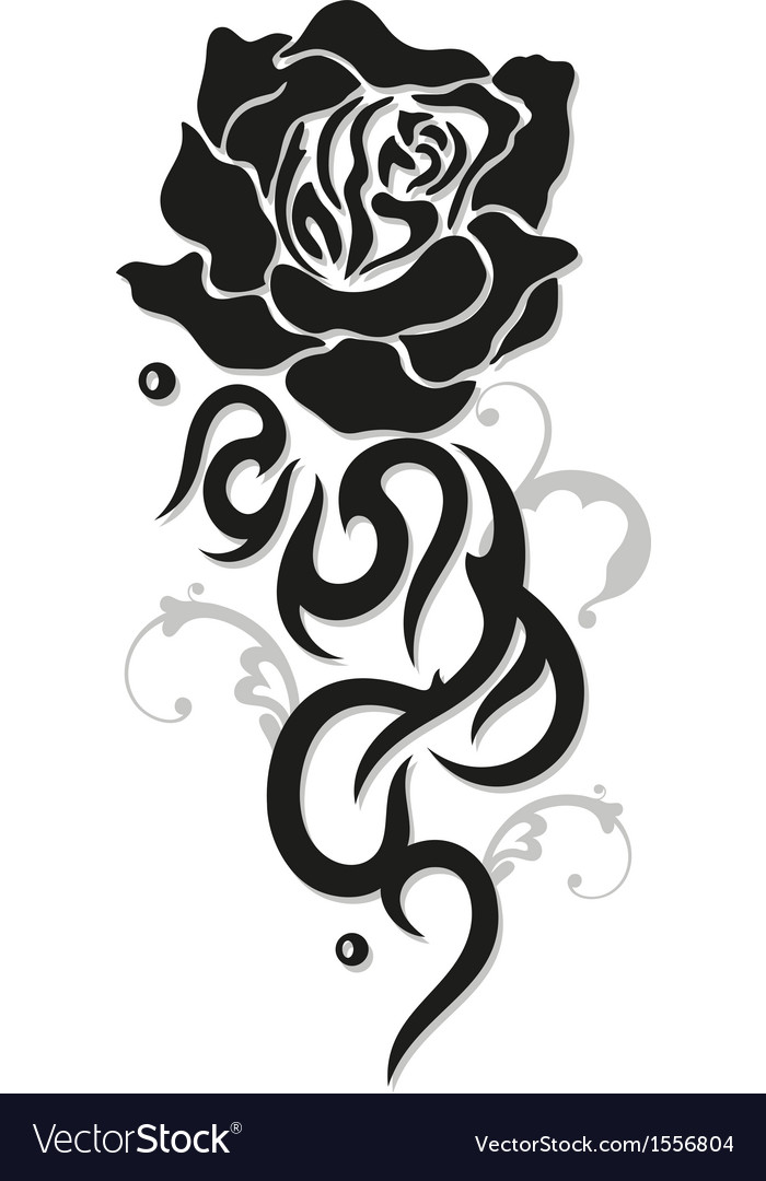 Rose tribal style