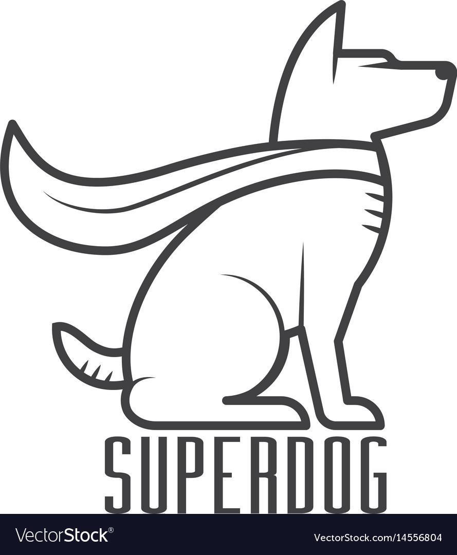 Super dog hero logo vector image