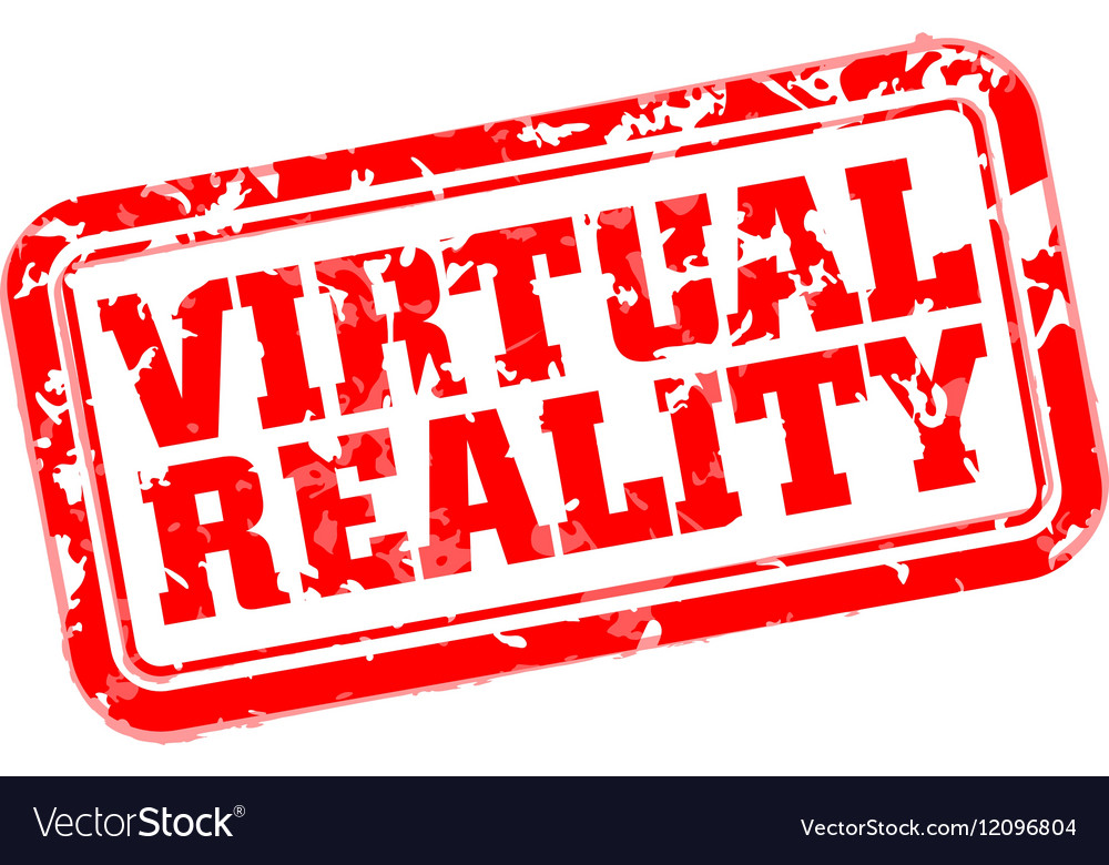 VR rubber stamp vector image