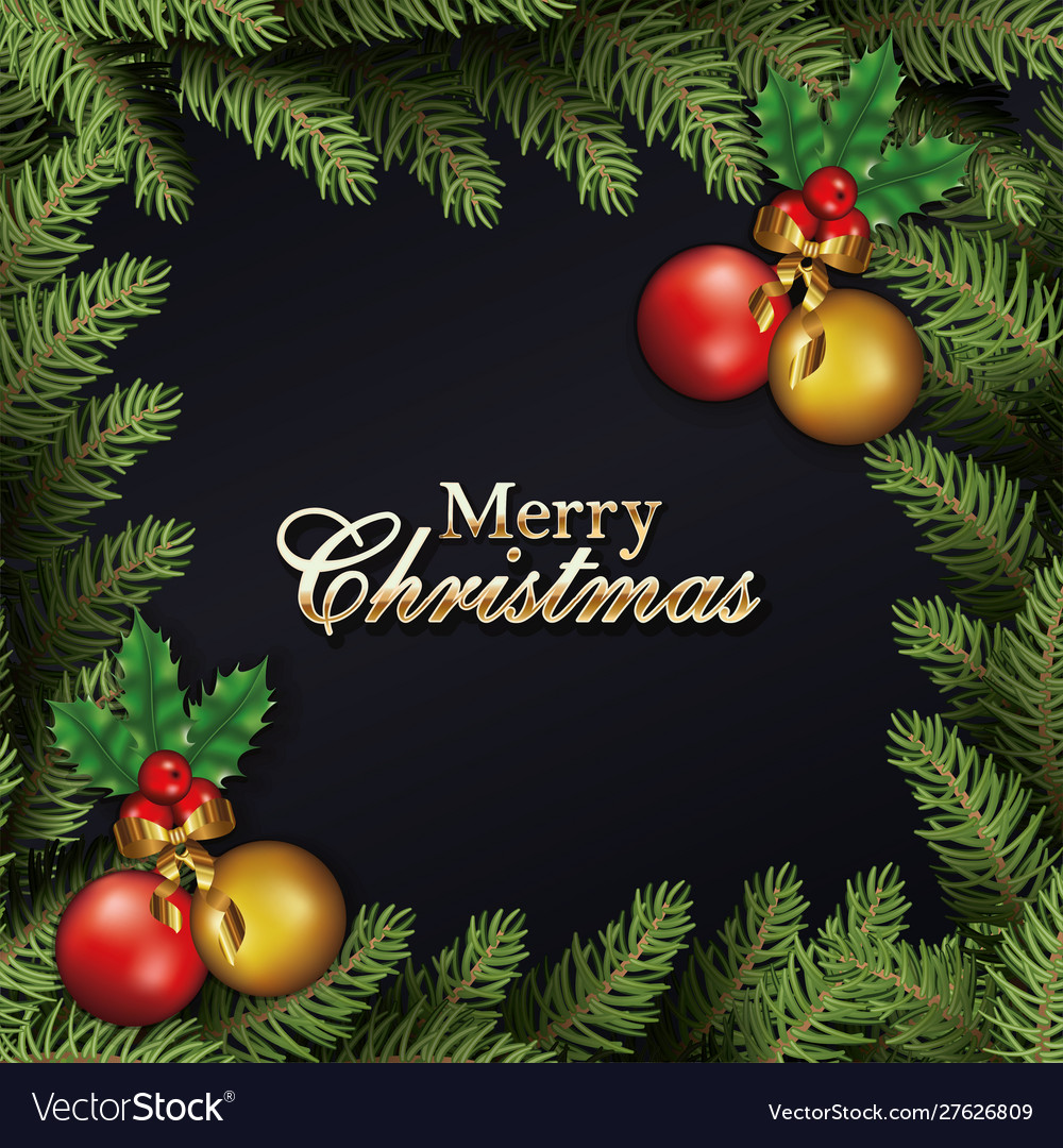 Happy merry christmas letterings with