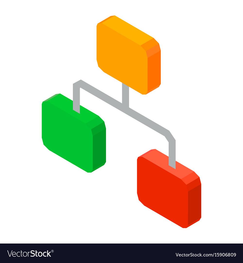 Hierarchy network 3d icon
