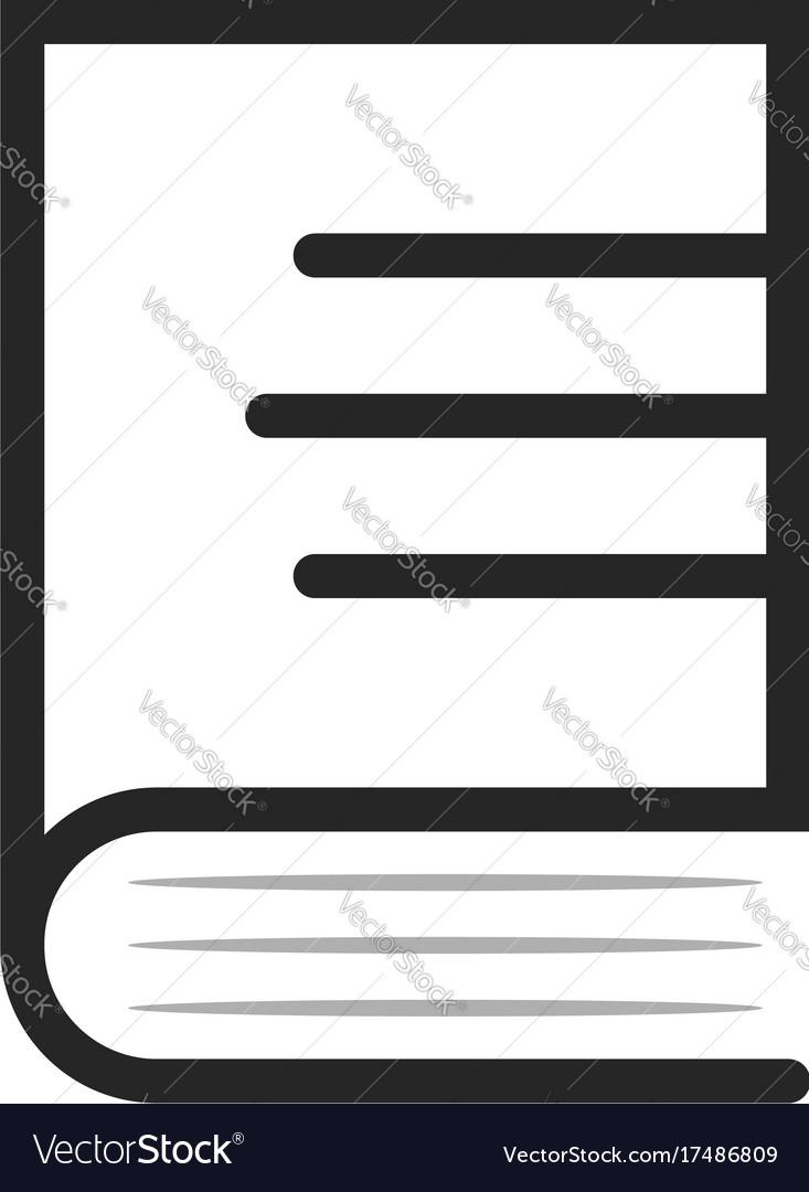 Linear book simple logo