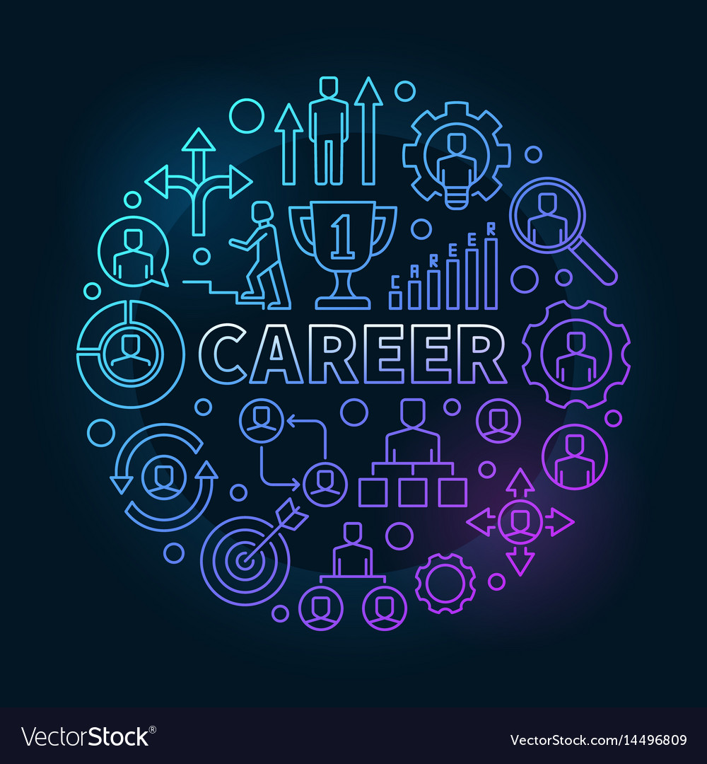 Modern career colorful vector image