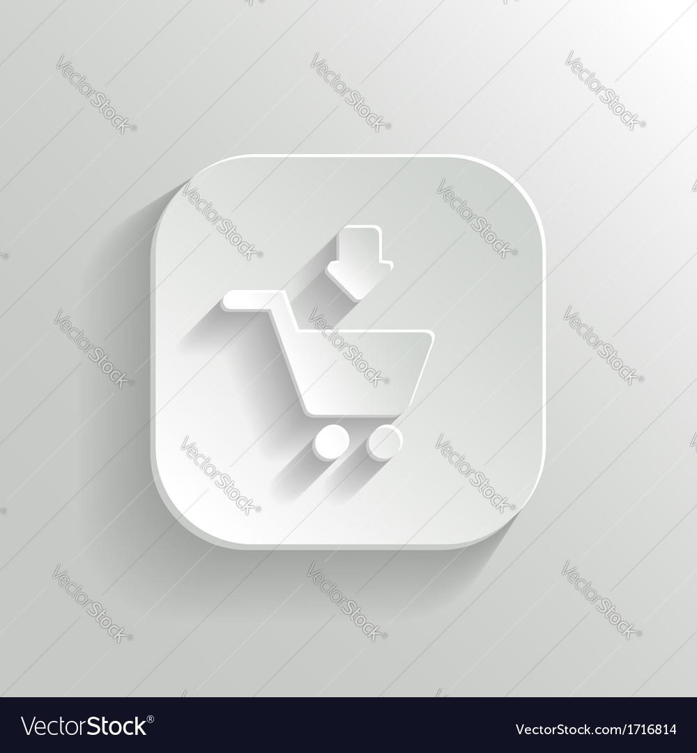 Add to shopping cart icon - white app button