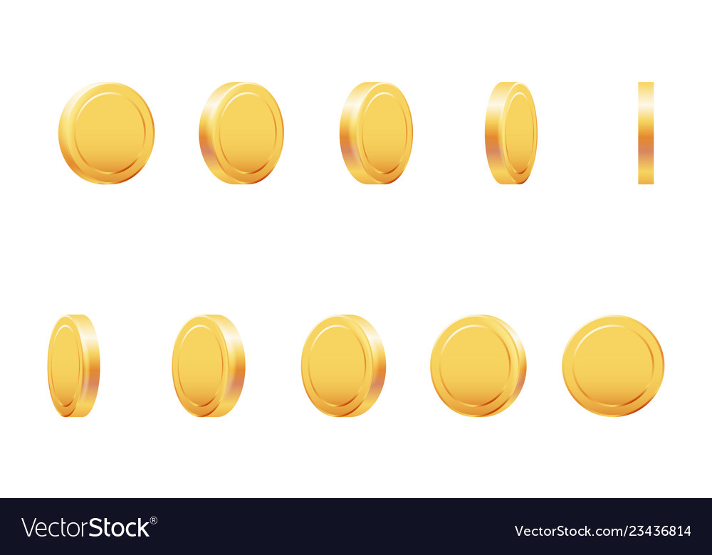 Golden coin rotation animation money currency