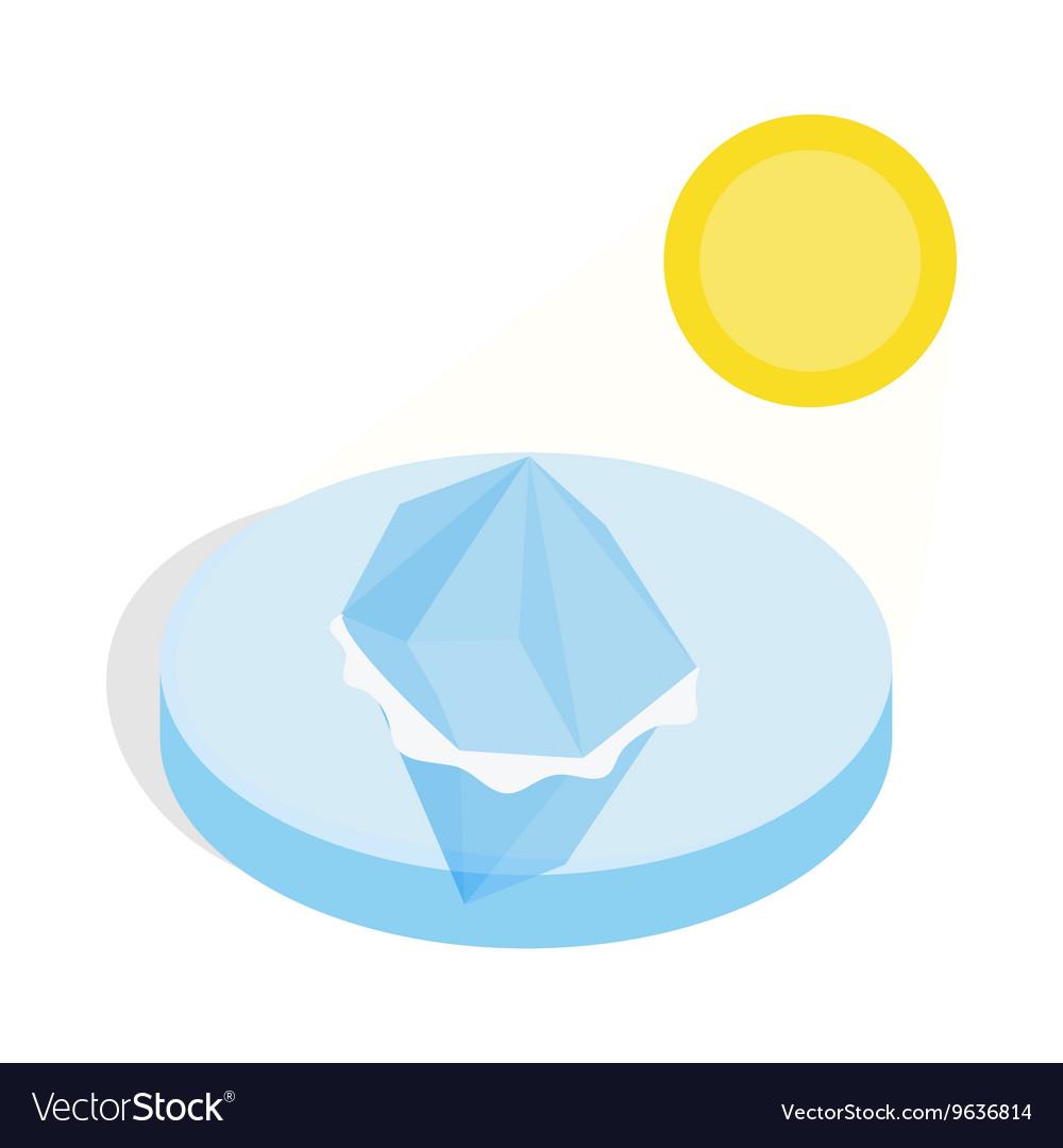 Melting iceberg icon isometric 3d style vector image