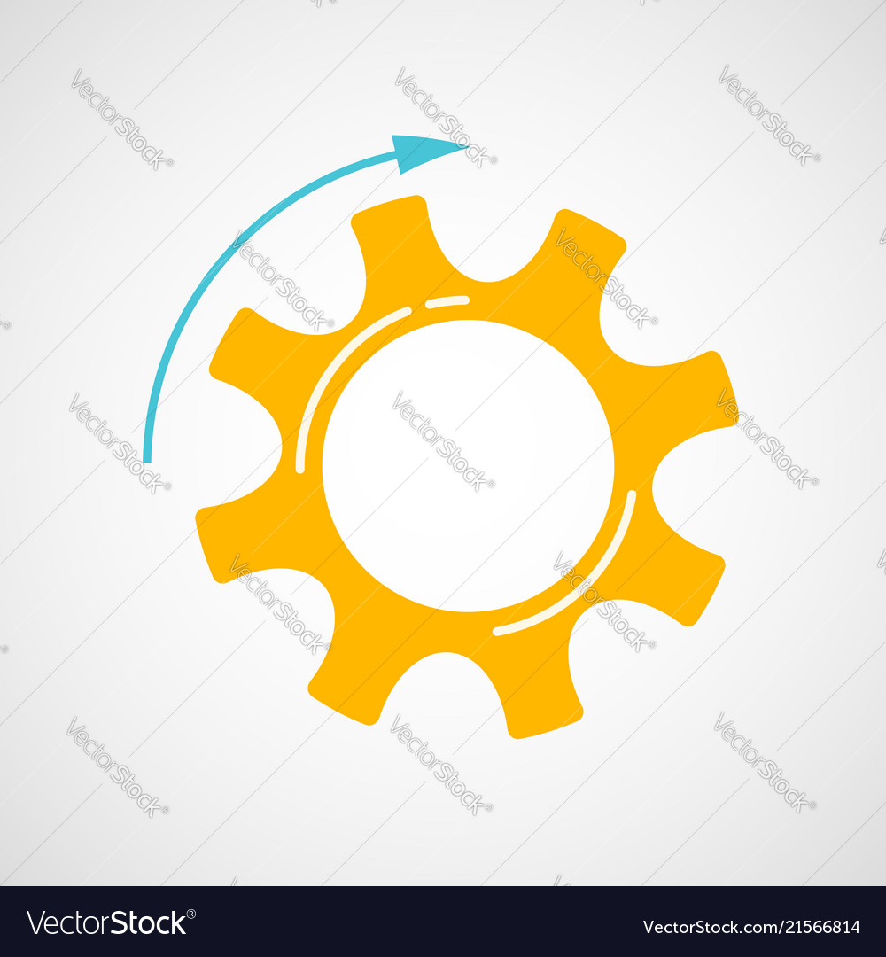 Orange and blue teamwork concept with cog and gear