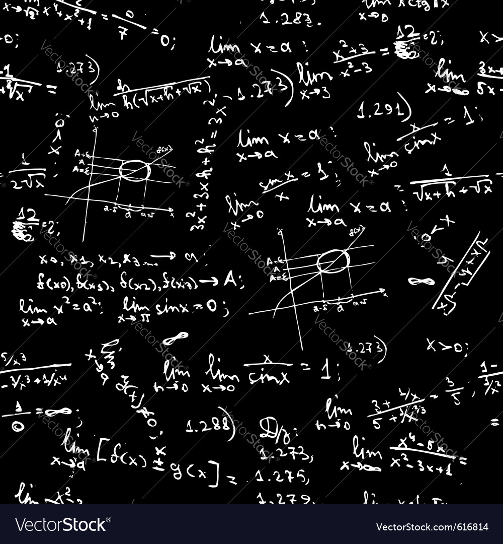 seamless background math formulas royalty free vector image