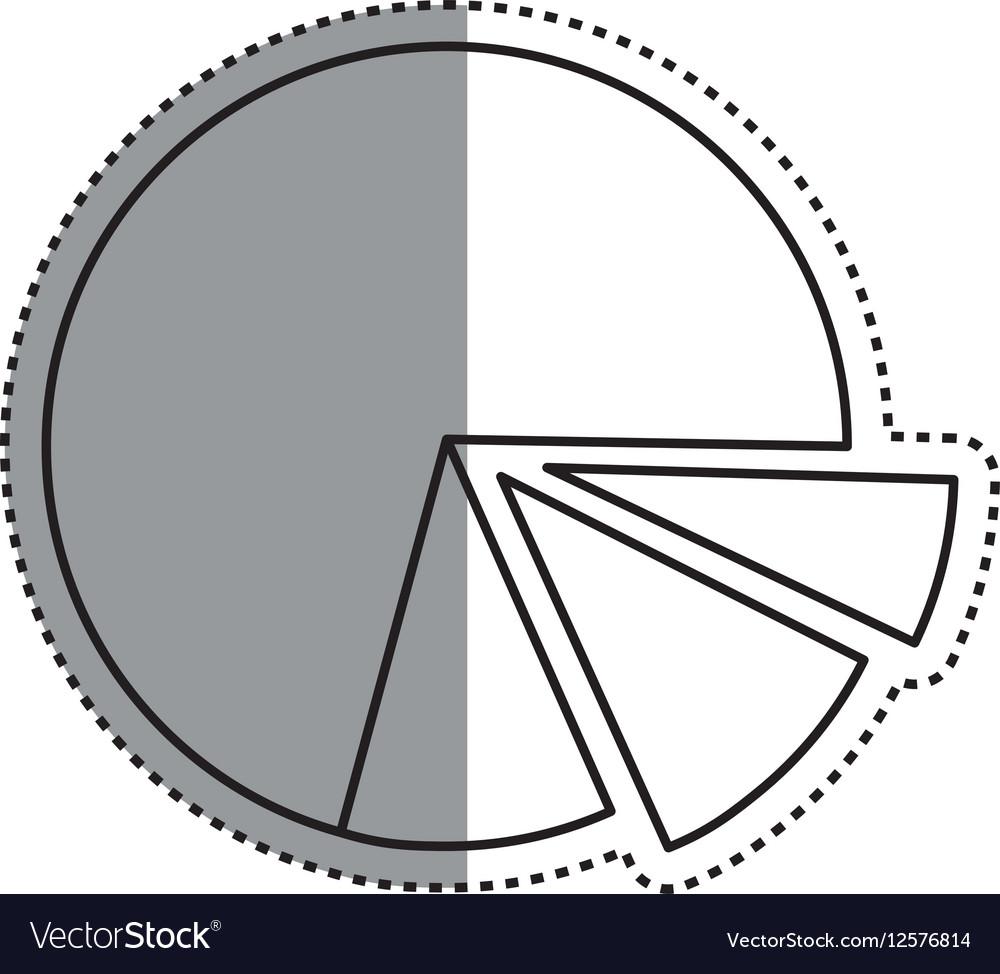 Statistics Pie Chart Royalty Free Vector Image