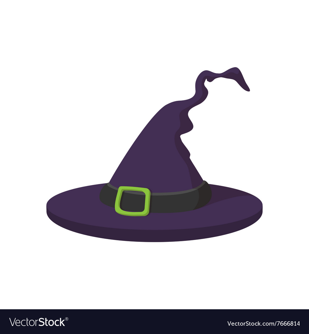 Witch Hat Icon Cartoon Style Royalty Free Vector Image