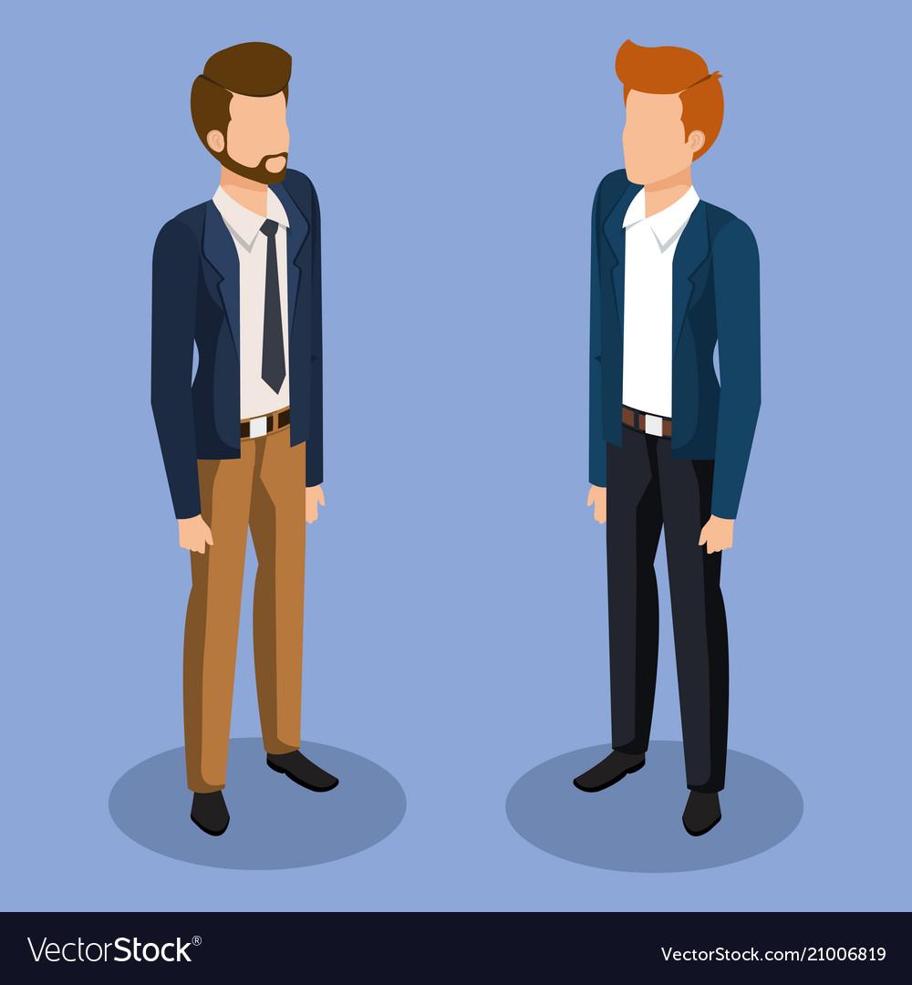Business men isometric avatars