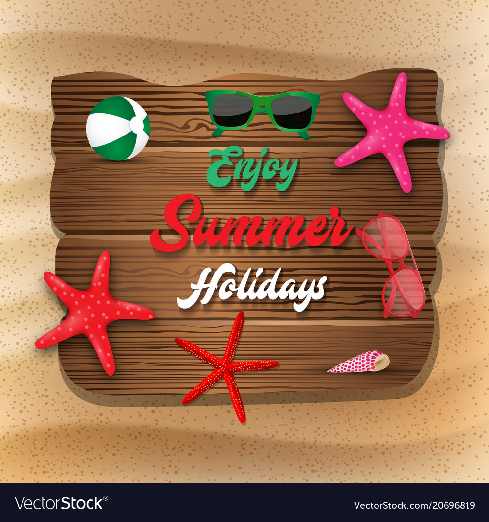 Enjoy summer holiday banner background