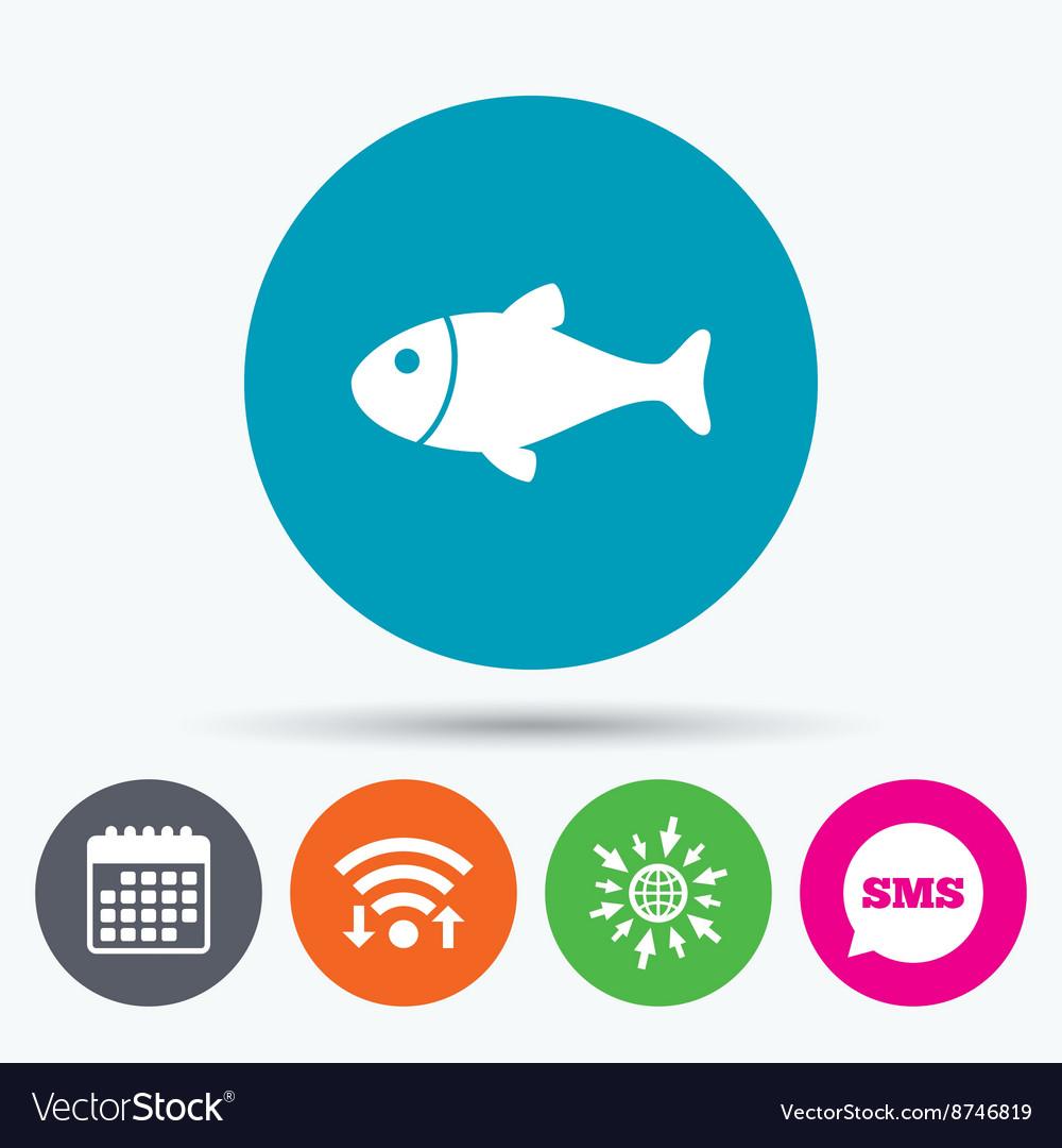 Fish sign icon Fishing symbol