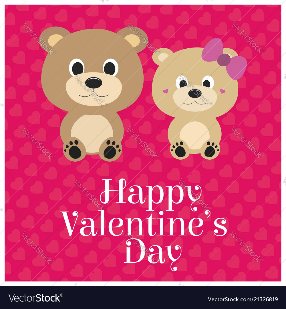 Happy valentines day with pink background