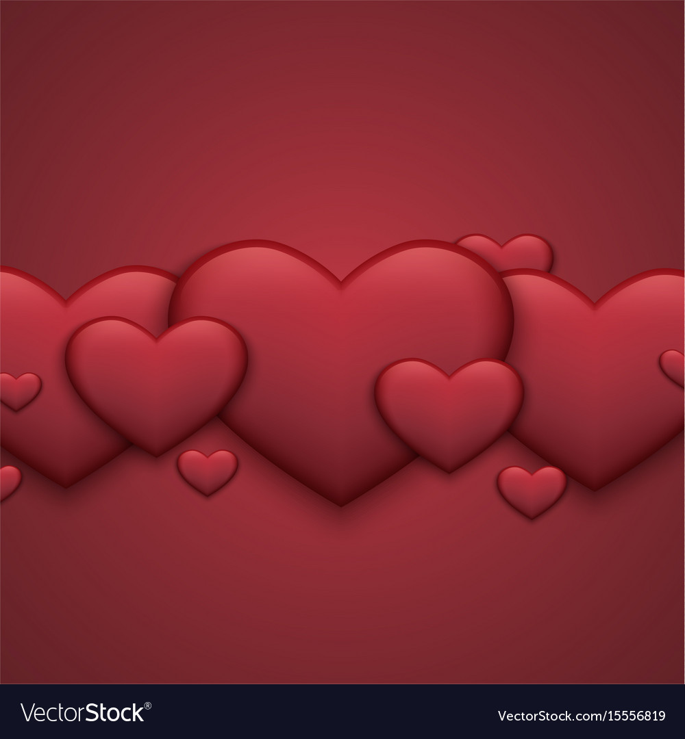 Modern red valentines day background heart