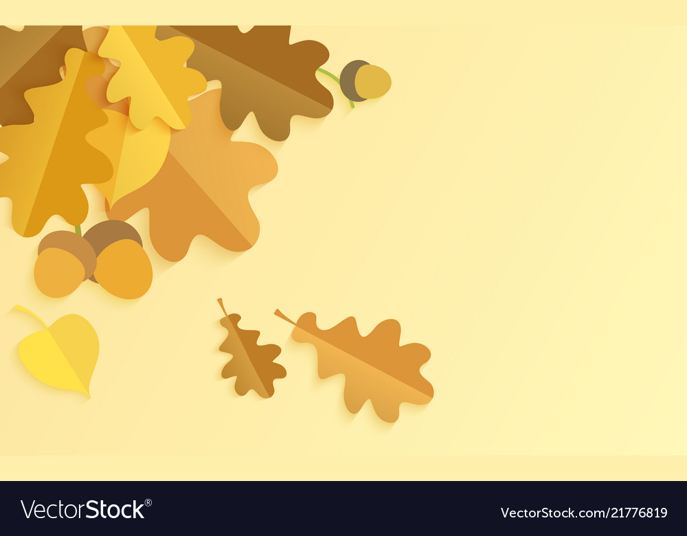 Realistic background with autumn color oak