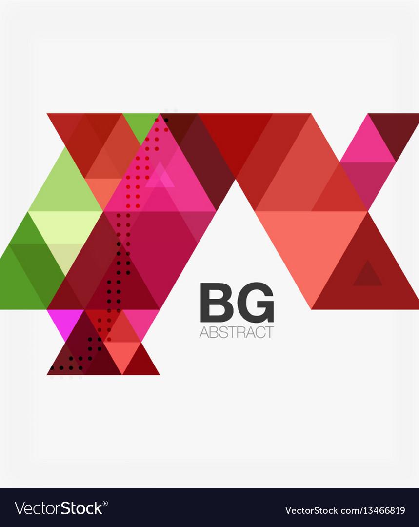 Triangle modern mosaic geometric template