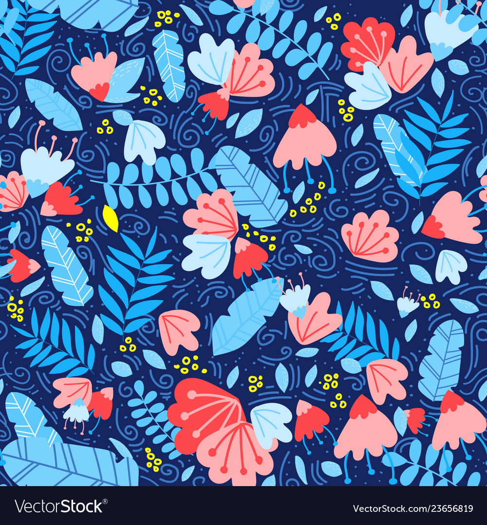 Tropical trendy seamless pattern with leave