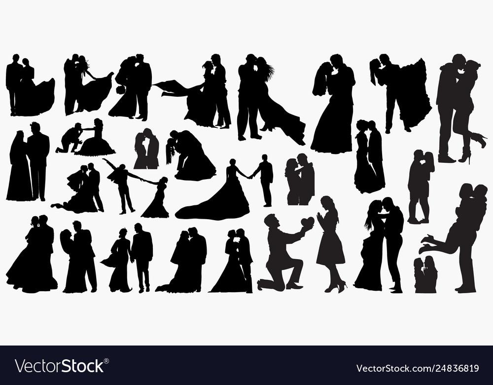 Wedding love silhouettes