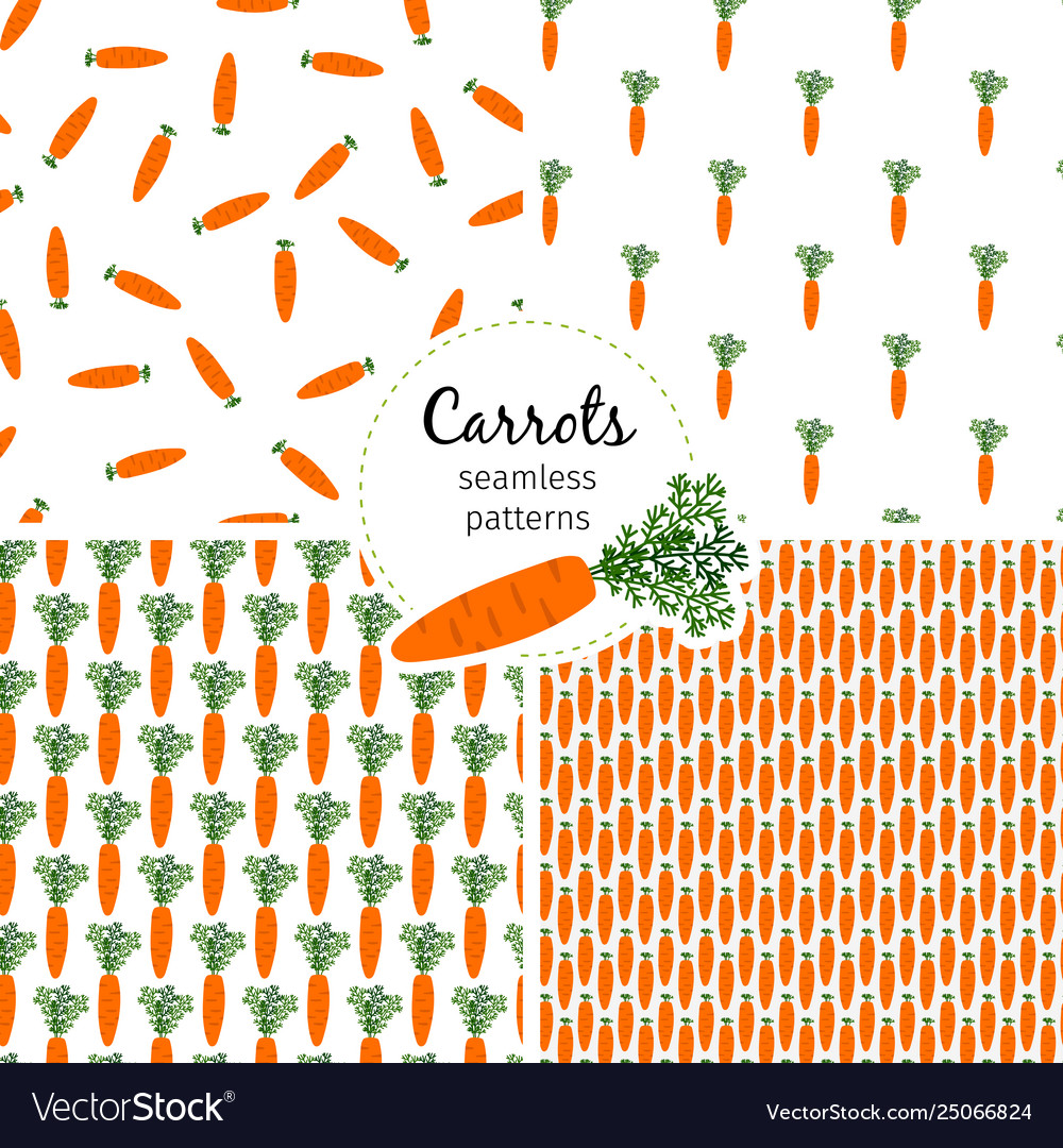Carrot seamless pattern healthy vegetable