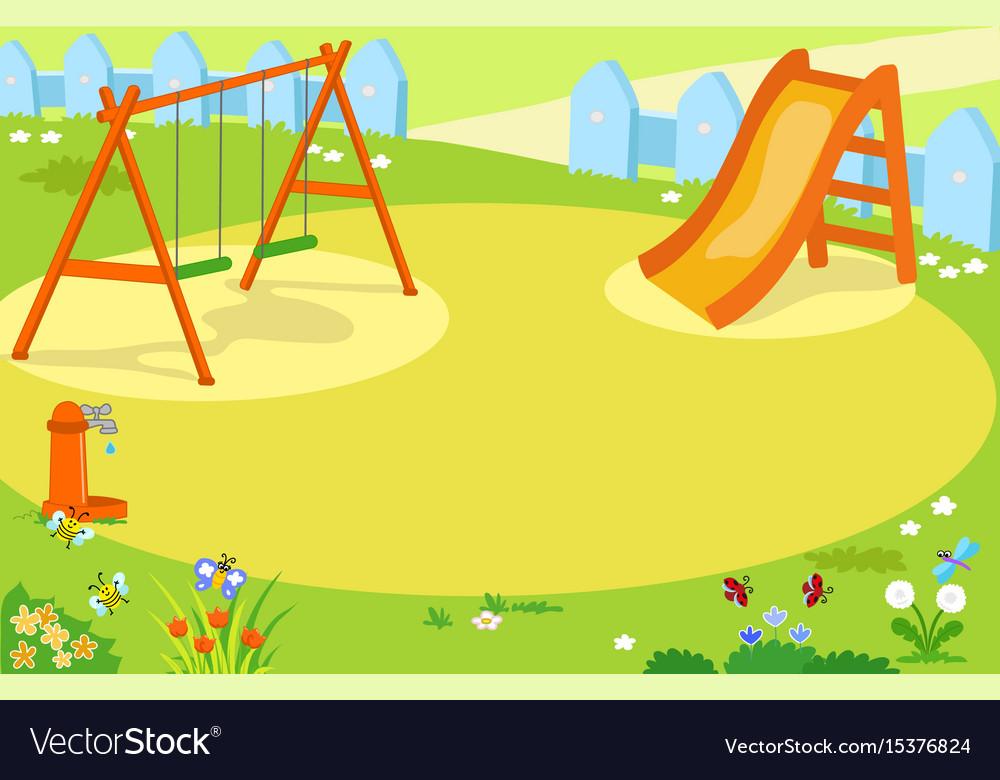cartoon empty playground royalty free vector image