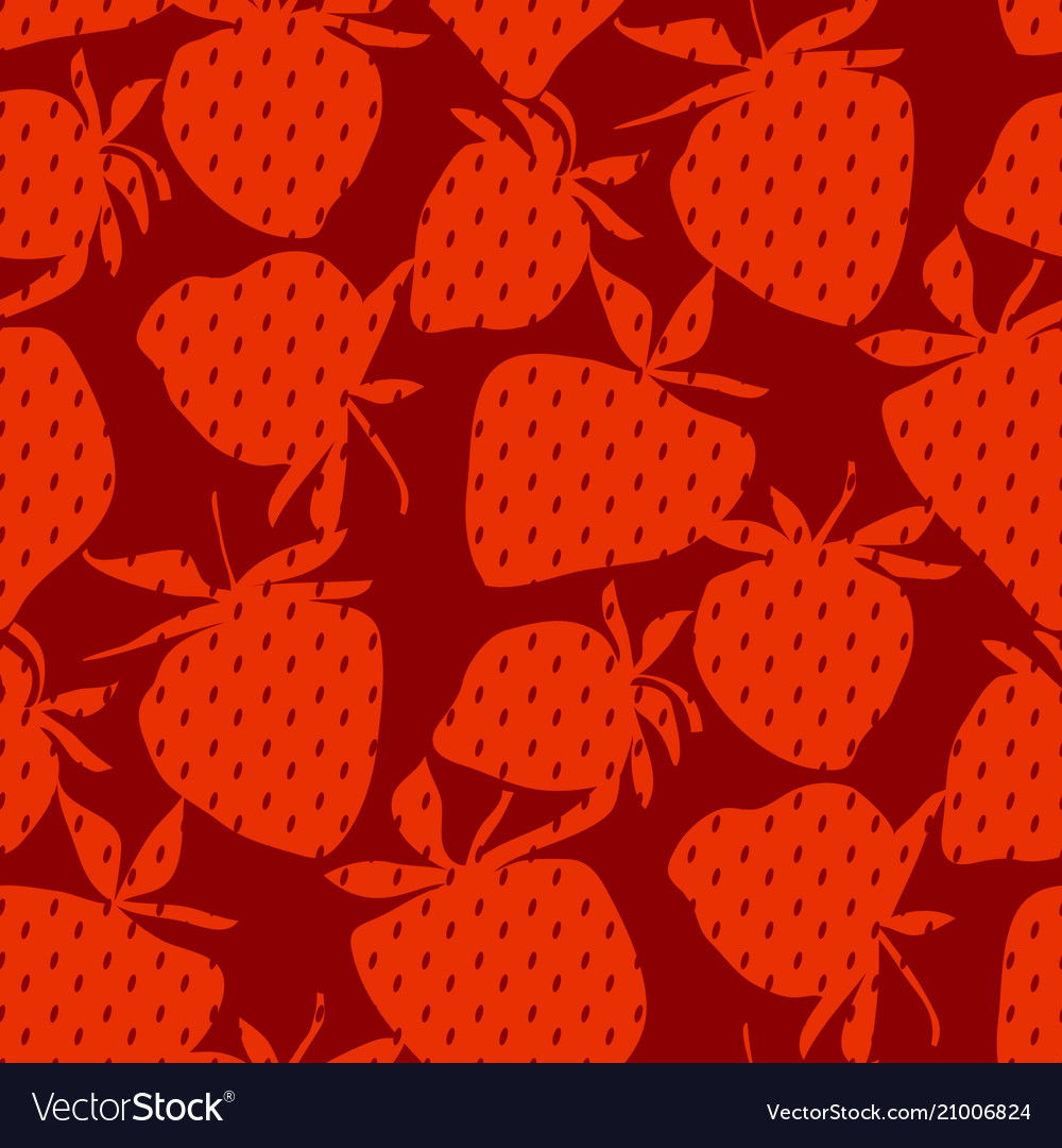 Classic minimal strawberry seamless pattern vector image