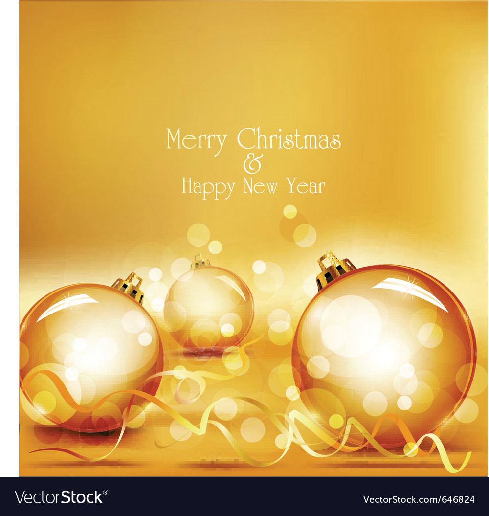 Holiday gold background vector image