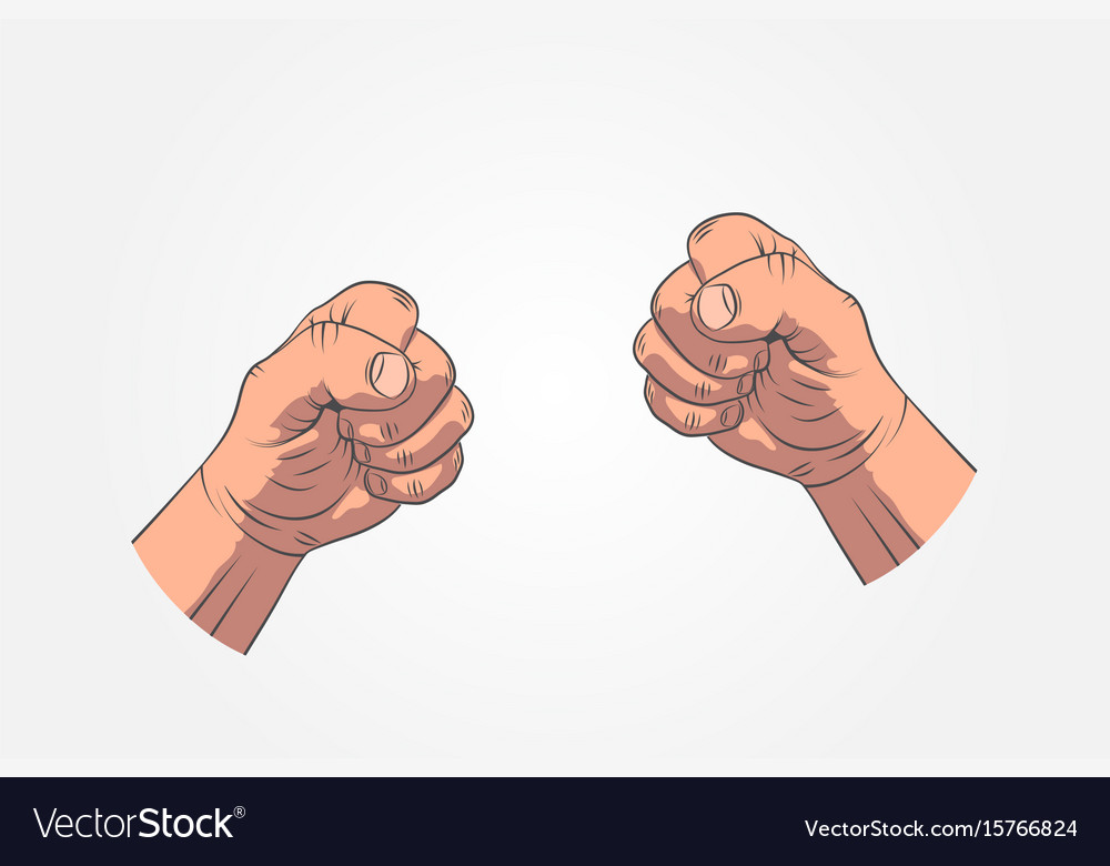 Realistic sketch hands - gestures hand-drawn icon
