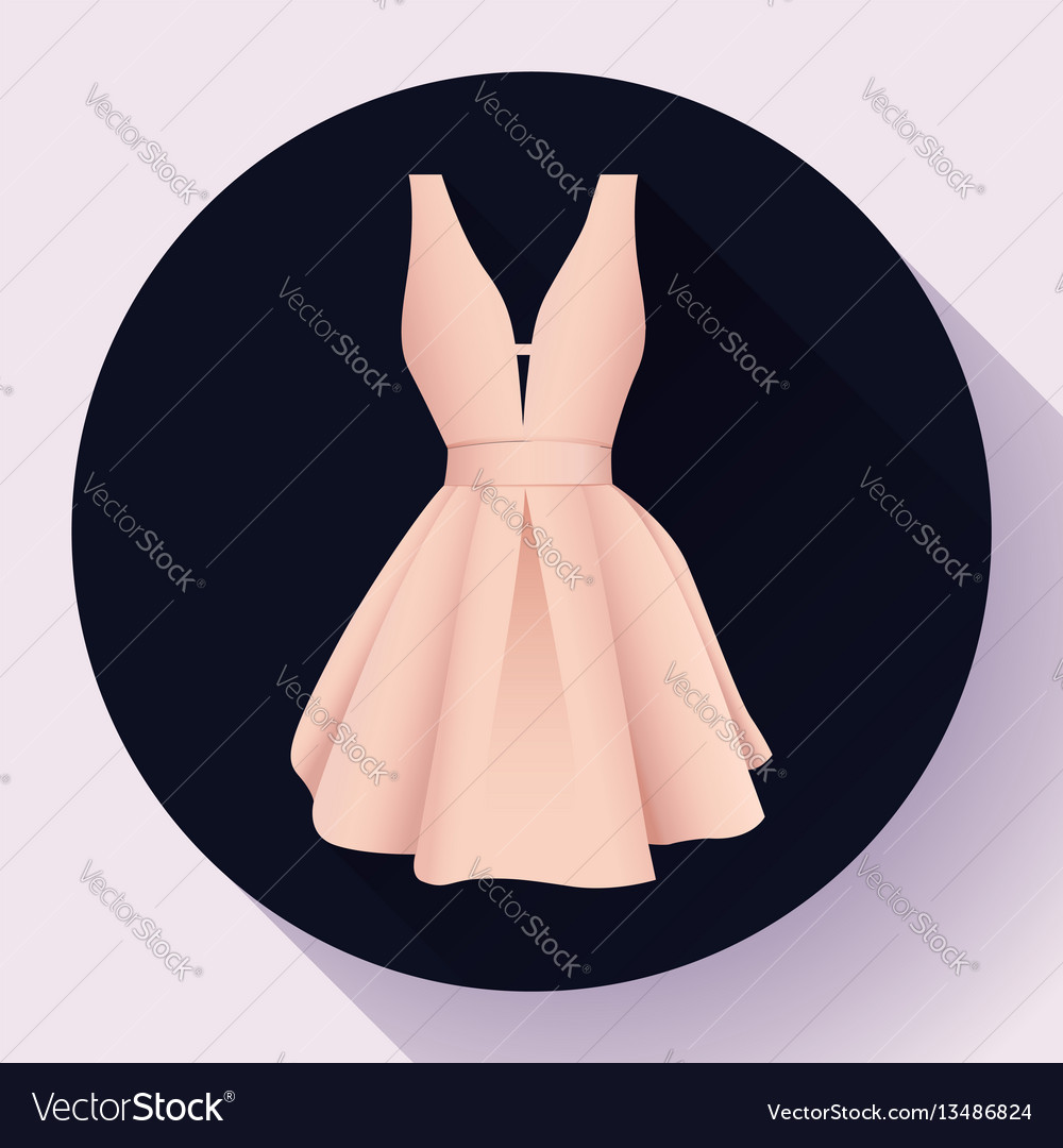 Woman dress icon