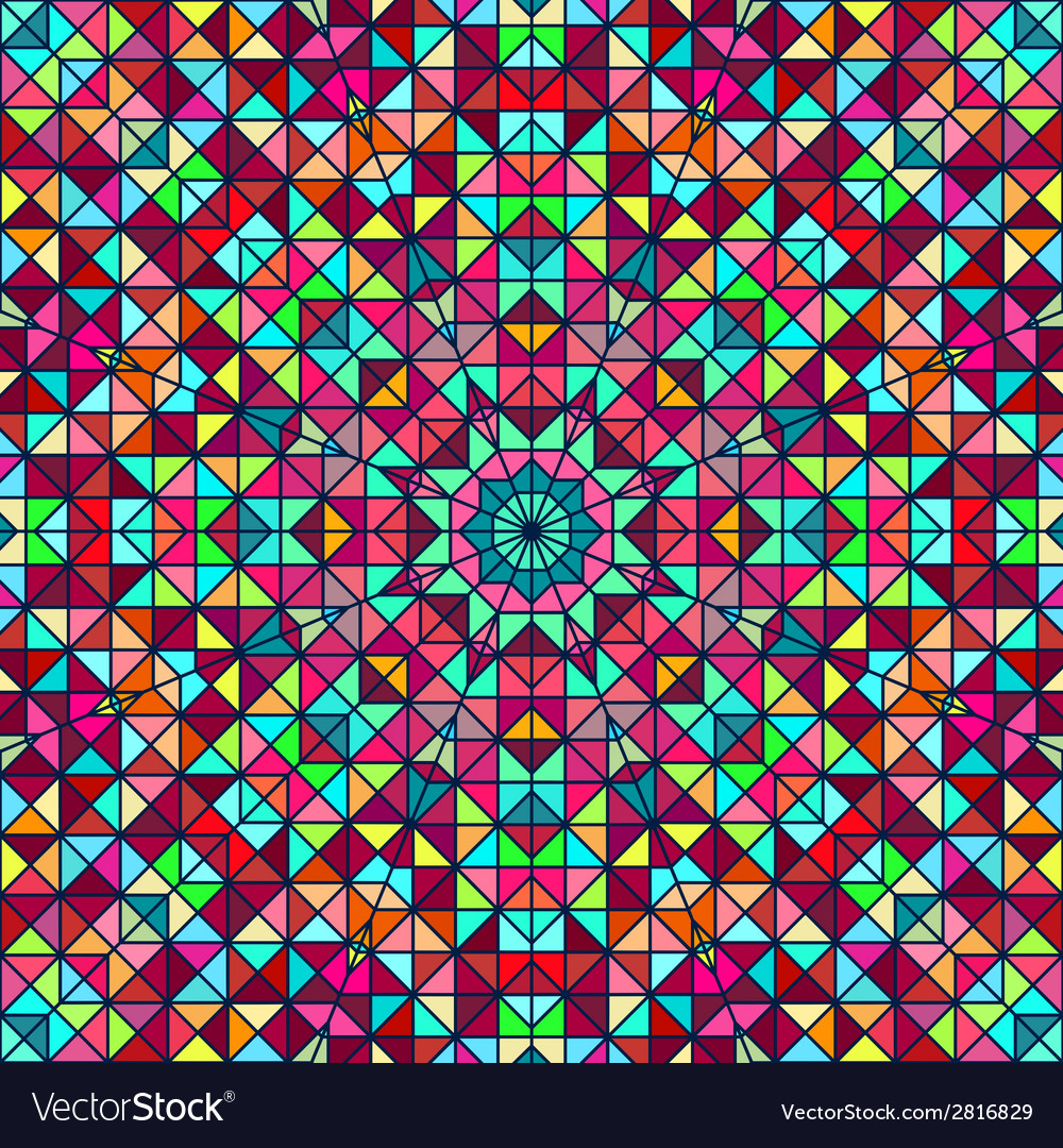 Abstract Colorful Digital Decorative Flower Star vector image