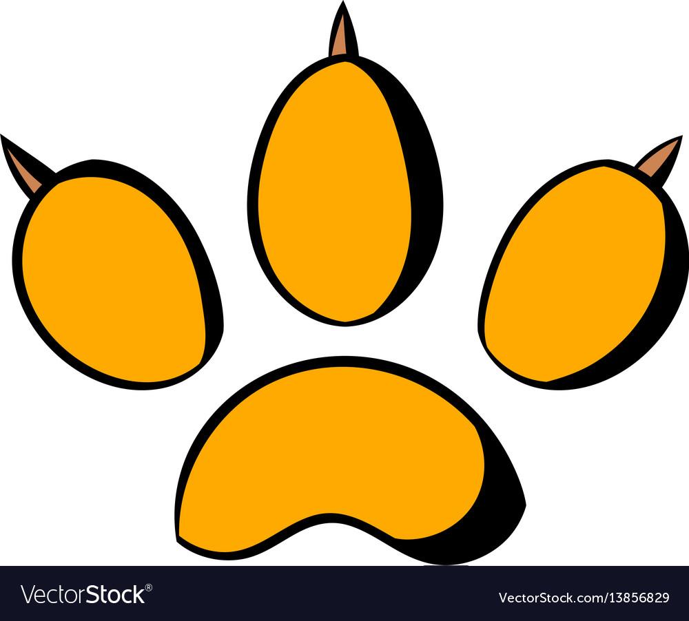 Animal paw icon icon cartoon