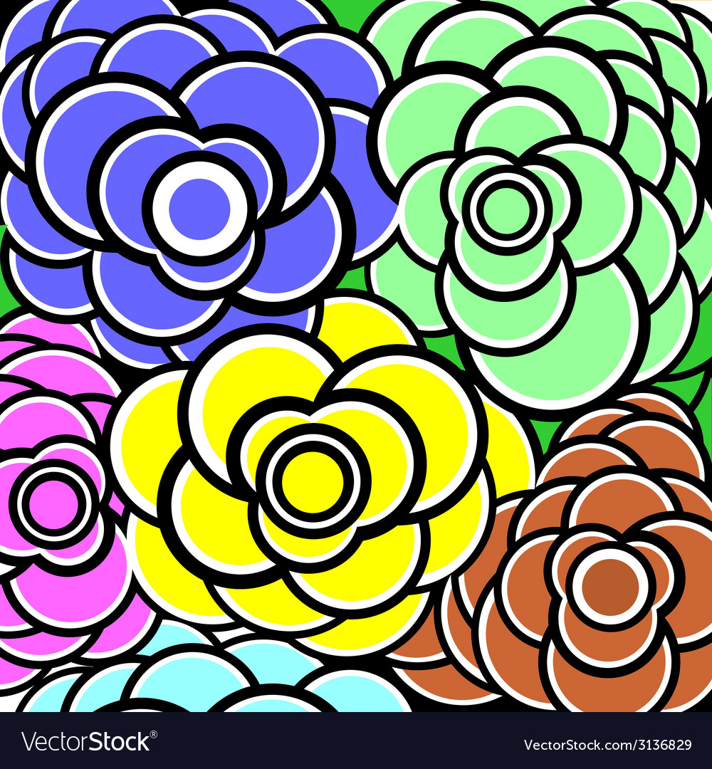 Background Flower Colorfull vector image