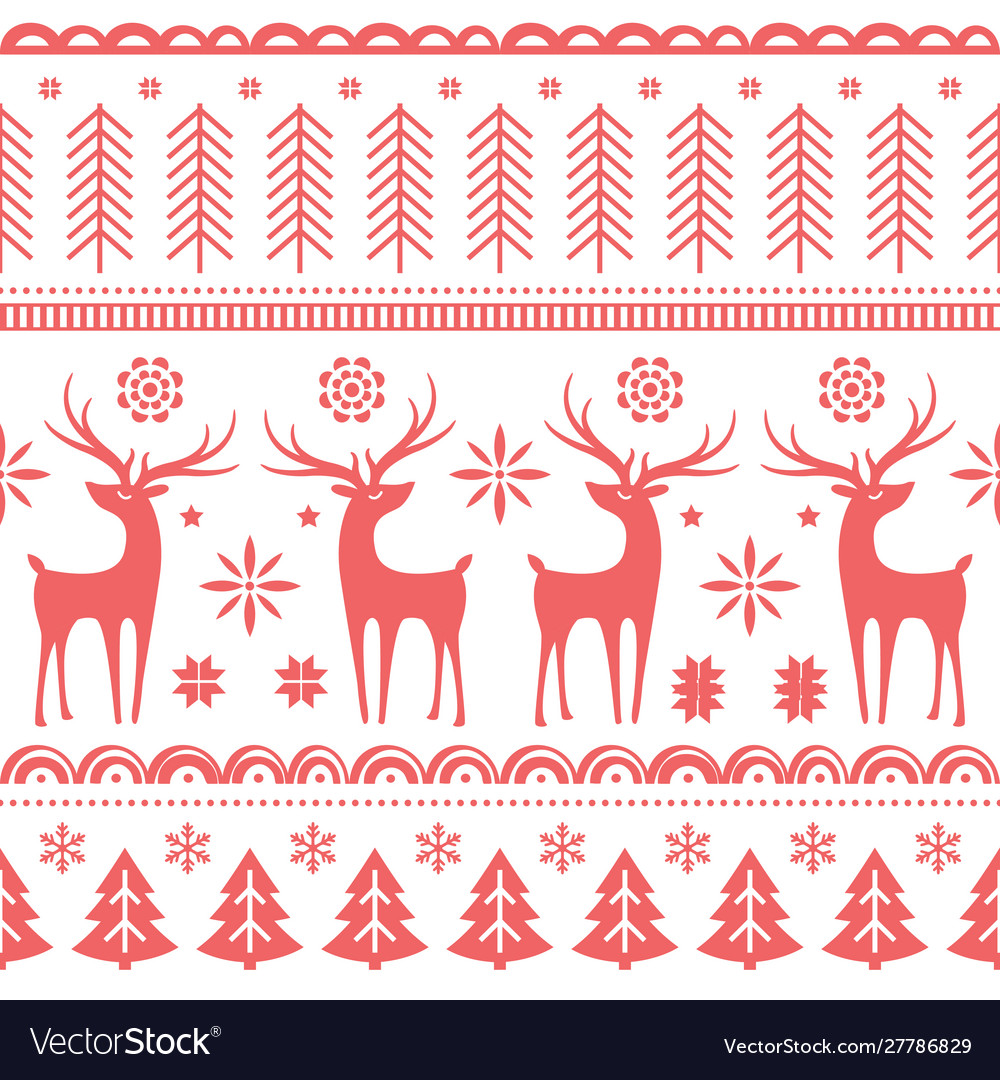 Beautiful seamless pattern with gorgeous deer and