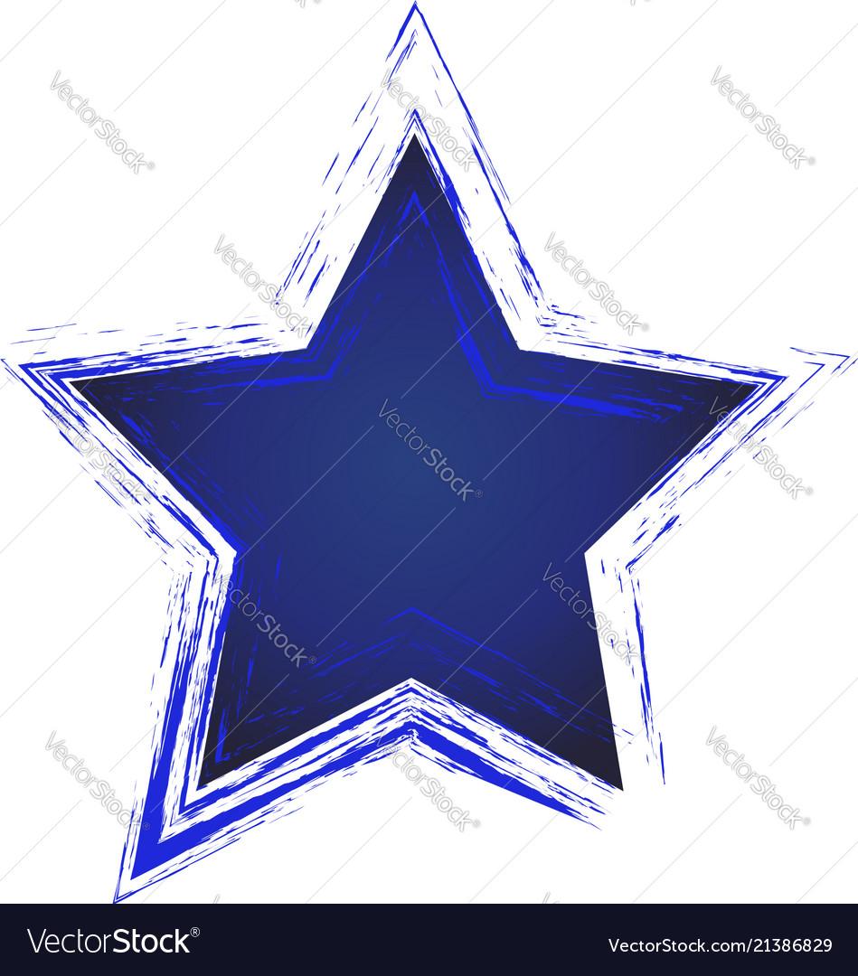 Blue star icon art