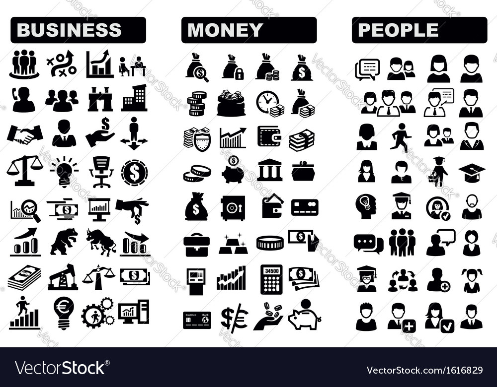 Business money and people icon